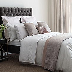 Fable - Silver 300 thread count 'Darcy Stripe' duvet cover