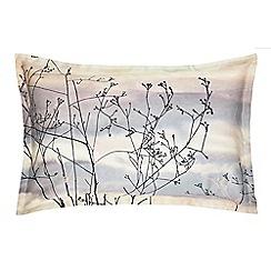 Clarissa Hulse - Multicoloured cotton sateen 200 thread count 'Dusk' Oxford pillow case