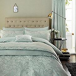 Sanderson - Aqua cotton rich 'Eleanor' duvet cover