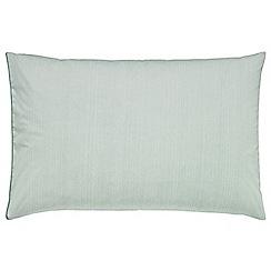 Sanderson - Aqua jacquard 'Eleanor' pillow case