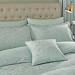 Sanderson - Aqua cotton rich 'Eleanor' fitted sheet