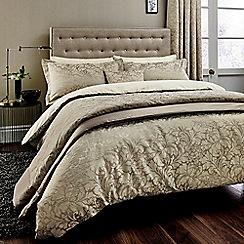 Sanderson - Light brown cotton rich 'Eleanor' duvet cover