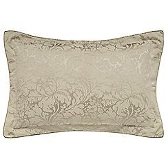 Sanderson - Light brown jacquard 'Eleanor' Oxford pillow case