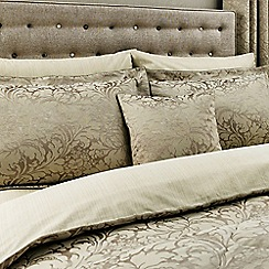 Sanderson - Light brown cotton rich 'Eleanor' fitted sheet