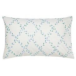 Sanderson - Aqua 'Ella' standard pillowcase