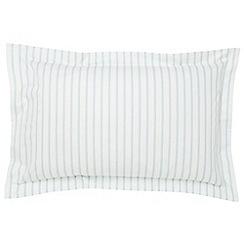 Fable - Light blue 'Ellis Stripe' oxford pillowcase