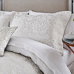 Sanderson - White cotton 200 thread count 'Fabienne' double flat sheet