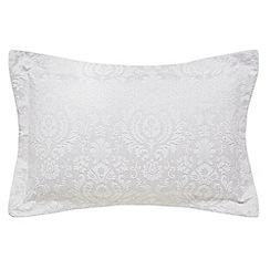 Sanderson - Silver cotton rich 'Fabienne' Oxford pillow case
