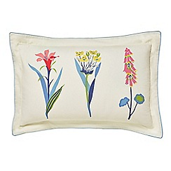 Sanderson - Multicoloured cotton 'Floral Bazaar' Oxford pillow case