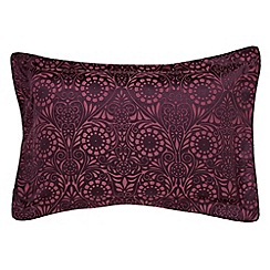 V & A - Dark red viscose and polyester 'Fiore' Oxford pillow case