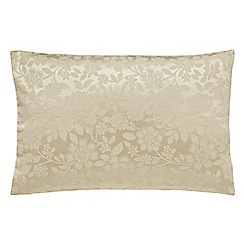 Helena Springfield - Light gold jacquard 'Flora' pillow case