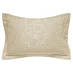 Helena Springfield - Light gold jacquard 'Flora' Oxford pillow case