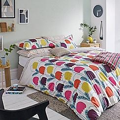 Scion - Multicoloured cotton percale 180 thread count 'Fritilla' duvet cover