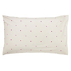 Little Sanderson - Kids' pink 300 thread count 'Fairyland' pillow case