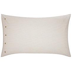 Bedeck - Natural 'Henley' standard pillowcase