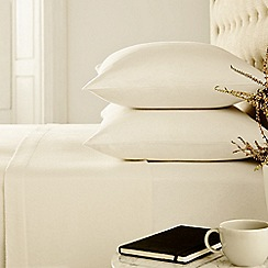 Helena Springfield - Ivory 'brushed cotton' plain dye bed linen