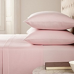 Helena Springfield - Pink 'brushed cotton' plain dye bed linen