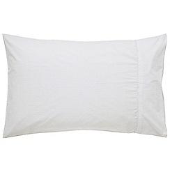 Fable - White 'Jasmine' standard pillowcase