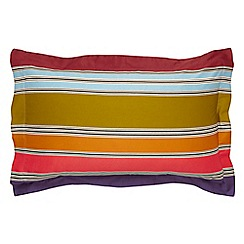 Harlequin - Multi-coloured 200 thread count cotton sateen 'Kaledio' Oxford pillow cases