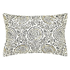 Echo - Grey 200 thread count floral 'Kamala' Oxford pillow case
