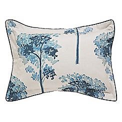 Harlequin - Blue 'Katsura' oxford pillowcase trees