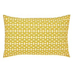 Scion - Light gold 'Lace Stripe' standard pillowcase