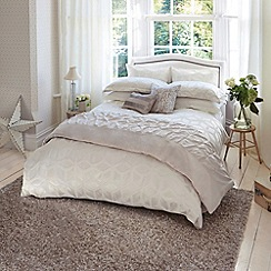 Harlequin - Ivory 'Lattice' bed linen