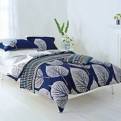 Harlequin - Navy 'Leaf' bed linen