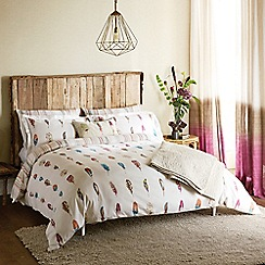 Harlequin - White 200 thread count cotton sateen 'Limosa' duvet cover