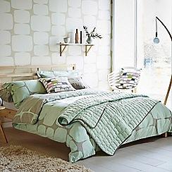 Scion - Light green cotton percale 'Lohko' duvet cover