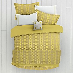 Helena Springfield - Yellow polyester and viscose 'Lula' duvet cover