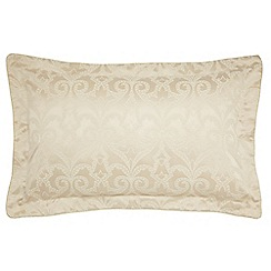 V & A - Light cream 'Moresque' oxford pillowcase