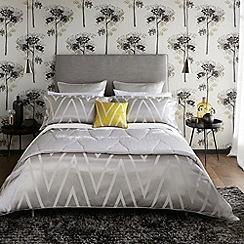 Harlequin - Silver 'Moriko' bed linen