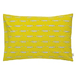 Scion - Bright green 'Mr Fox' standard pillowcase