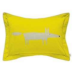 Scion - Bright green 'Mr Fox' oxford pillowcase
