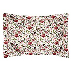 Julie Dodsworth - Pink cotton 'Mary Rose' Oxford pillow case