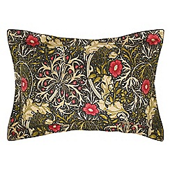 Morris & Co - Multicoloured 300 thread count floral 'Morris Seaweed' Oxford pillow case