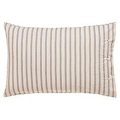 Peacock Blue Loft Collection - Light grey 'Oakley' standard pillowcase