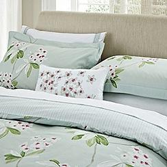 Sanderson - Aqua 'Oleander' bed linen
