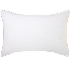 Hotel - White brushed cotton plain dye 'Verbier' Standard pillow case