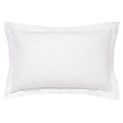 Hotel - White combed cotton percale 300 thread count 'Maya' Oxford pillow case