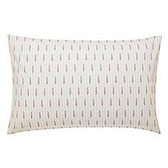 Sanderson - Red 'Pondicherry' standard pillowcase