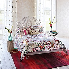 Harlequin - Red 200 thread count floral 'Paradise' duvet cover