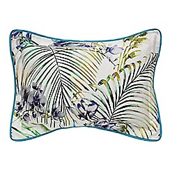 Harlequin - Blue 200 thread count floral 'Paradise' Oxford pillow case