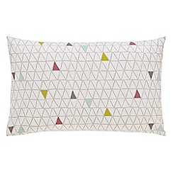 Scion - Multicoloured cotton 'Raita Stripe' Standard pillow cases