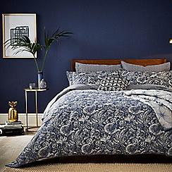 Bedeck 1951 - Dark blue cotton sateen 200 thread count 'Renata' duvet cover