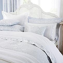 Sanderson - White cotton 200 thread count 'Richmond' double flat sheet