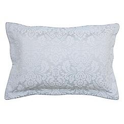 Sanderson - Blue cotton rich 'Richmond' Oxford pillow case