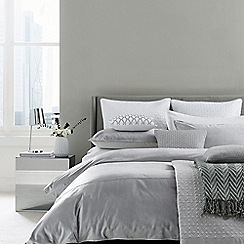 Hotel - Silver cotton viscose 'Samsara' duvet cover