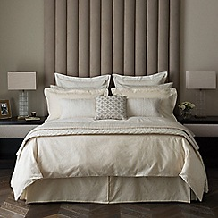 Fable - Light gold 350 thread count cotton 'Saverne' duvet cover